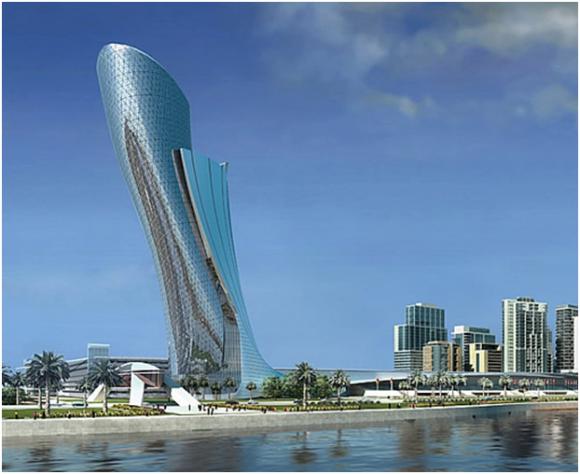 Capital Gate, Abu Dhabi (creative commons)