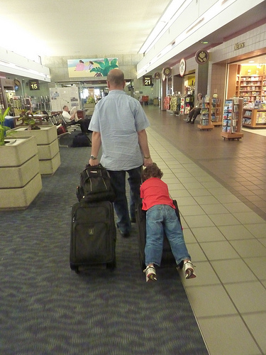 Traveling with kids (creative commons)