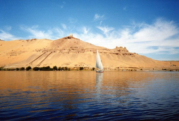River-Nile-near-Aswan-by-Alchemica