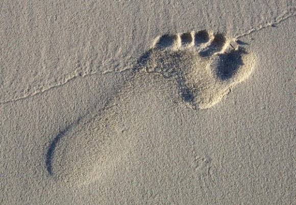 Footprint in the Sand (creative commons)a