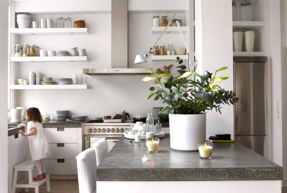 White Nuance Kitchen Color Schemes (Creative Commons)
